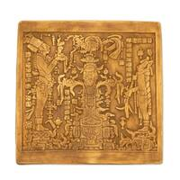 Ceramic Plaque 'Maya Foliated Cross' (Mexico)