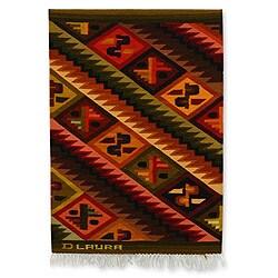 Handmade Wool 'Andean Mosaic' Tapestry (Peru)