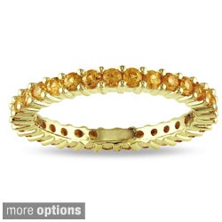 Miadora 14k Gold Gemstone Stackable Eternity Ring
