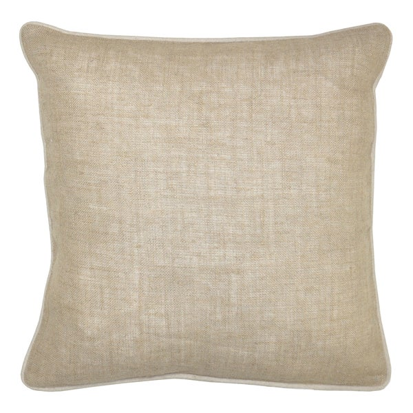 Kosas Home Bella Textured Linen Natural Decorative Throw Pillows (Set of 2)