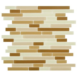 SomerTile 11.75x11.75-inch View Dakar Piano Frosted Glass Mosaic Wall Tile (17 tiles/16.65 sqft.)