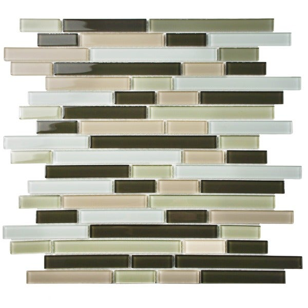 SomerTile 11.75x11.75-inch View Chapparal Piano Glass Mosaic Wall Tile (Case of 17)