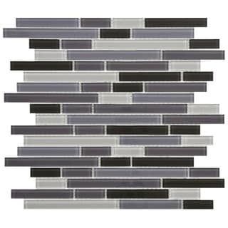 SomerTile 11.75x11.75-inch View Reglia Piano Glass Mosaic Wall Tile (Case of 17)