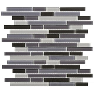 SomerTile 11.75x11.75-inch View Reglia Piano Glass Mosaic Wall Tile (17 tiles/16.32 sqft.)