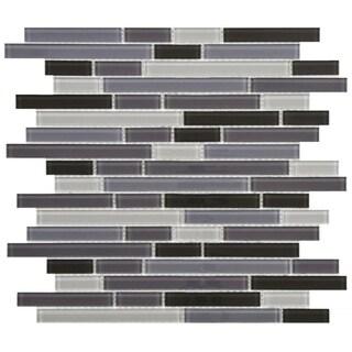 SomerTile 11.75x11.75-inch View Reglia Piano Glass Mosaic Wall Tile (17 tiles/16.32 sqft.)