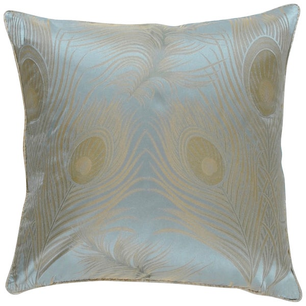 Gianna Silver Feather 18-inch Decorative Pillow