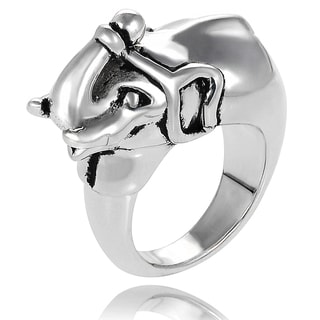 Journee Collection Sterling Silver Elephant Ring