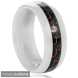 Vance Co. Ceramic Men's Carbon Fiber Inlay Band (8 mm)
