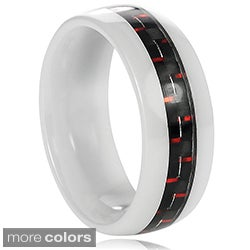 Vance Co. Ceramic Men's Carbon Fiber Inlay Band (8 mm)
