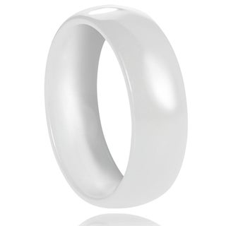 Vance Co. Ceramic Men's Domed Band (7 mm)