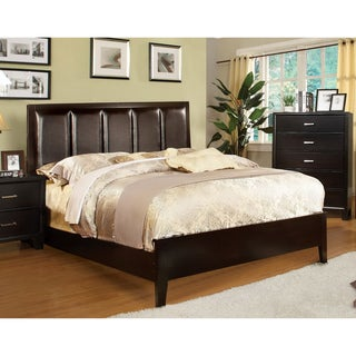 Furniture of America Contemporary Leatherette Queen Size Bed