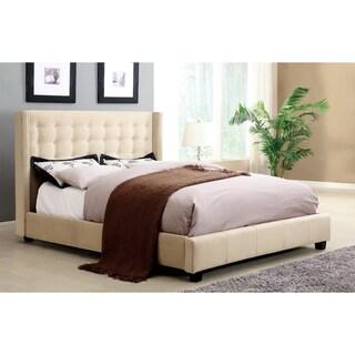 Furniture of America Mazi Modern Nailhead Trim Queen Platform Bed