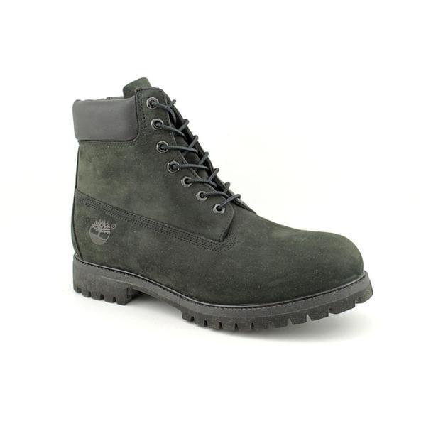 """Timberland Men's '6"""" Premium Waterproof' Nubuck Boots - Wide (Size 14)"""