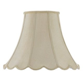 Cal Lighting Vertical Piped Scallop 14-inch Bell Shade