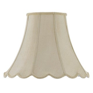 Cal Lighting Vertical Piped Scallop 16-inch Bell Shade