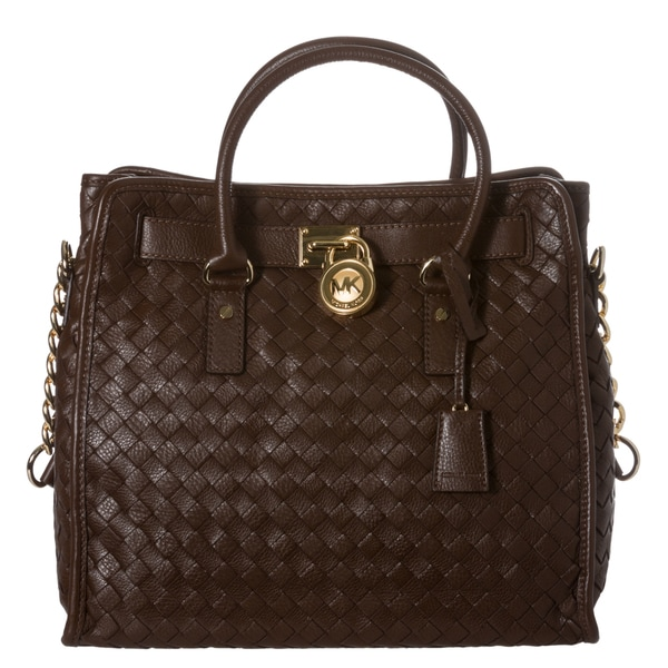 MICHAEL Michael Kors 'Hamilton' Woven Leather Tote Bag