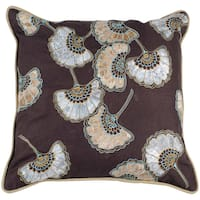 Katherine Brown Floral 18-inch Decorative Pillow