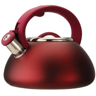Whistling Matte Red Kettle