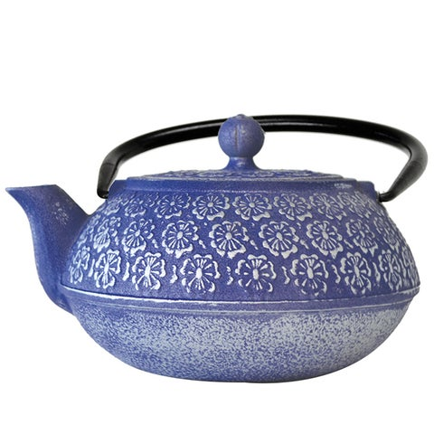 Epoca 40-ounce Japanese Blue Floral Cast Iron Teapot