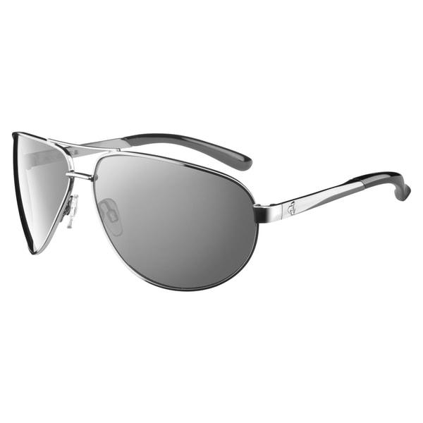 Ryders Men's 'Hayden' Silver Aviator Sunglasses