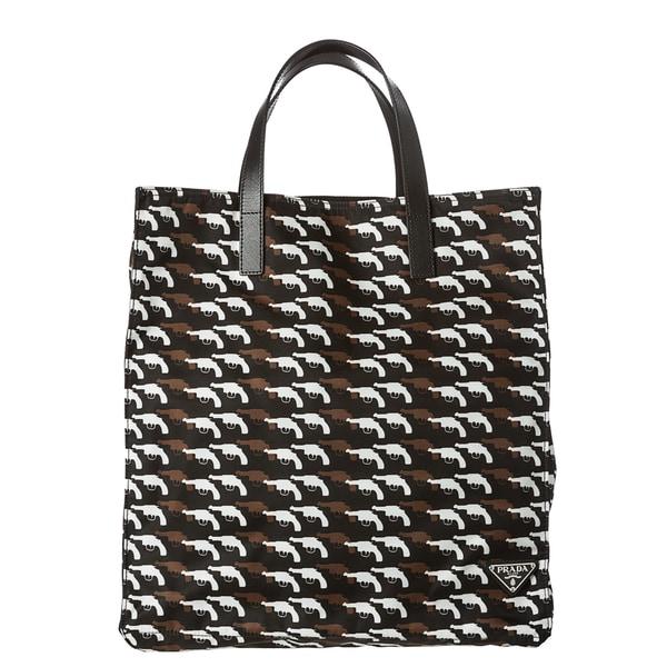 Prada Printed Nylon Tote Bag