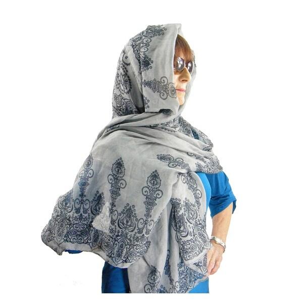 East Indian Rangoli Fashion Scarf/ Beach Wrap