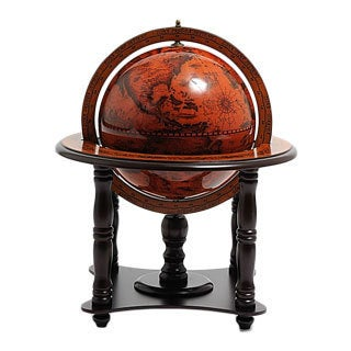 Old Modern Handicrafts Classic Wooden Globe on Stand