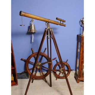 Old Modern Handicrafts Harbor Telescope with Stand