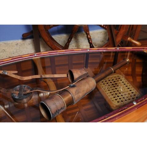 Old Modern Handicrafts Handheld Leather Overlay Telescope