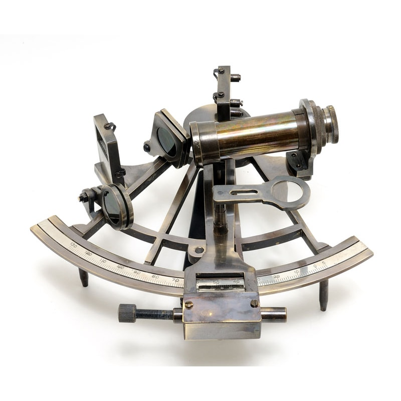 Old Modern Handicrafts Large Nautical Sextant with Wooden Case (Nautical Sextant in wood box (Large)) -  ND017