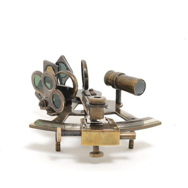 Old Modern Handicrafts Nautical Sextant with Wooden Case