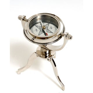 Old Modern Handicrafts Gimbaled Compass on Tri stand