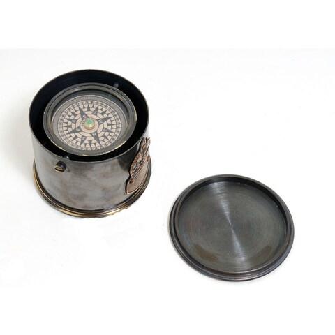 Old Modern Handicrafts Functional Drum Compass
