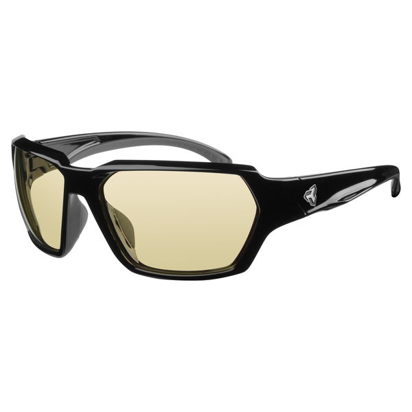 Ryders Men's 'Face' Black Square Sunglasses with Yellow Lenses