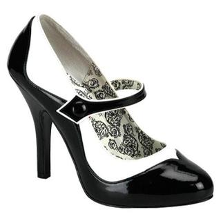 Women's Bordello Tempt 07 Black/White PU