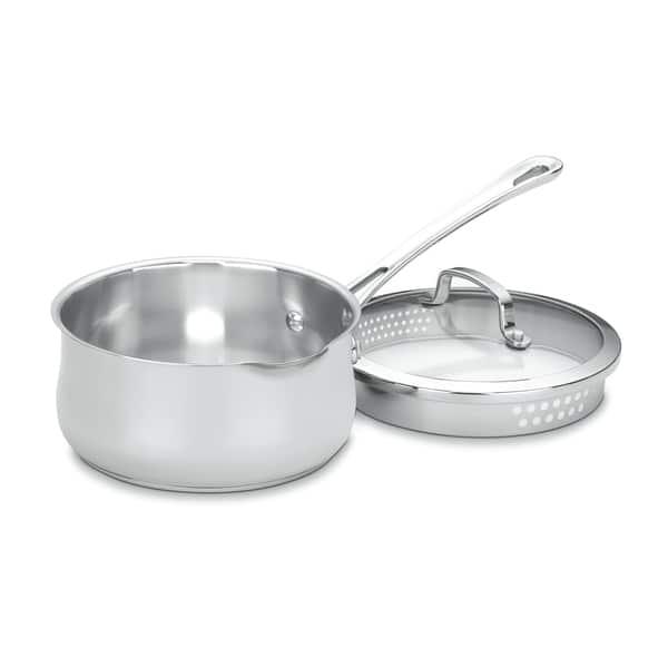 Cuisinart Contoured 2 Quart Pour Spout Saucepan With Cover Overstock 7740846