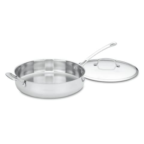 Cuisinart Contoured 5-quart Stainless Steel Saute Pan with Cover