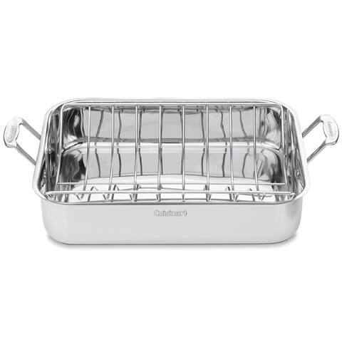 Cuisinart Chef's Classic Stainless 16-inch Rectangular Roaster with Rack