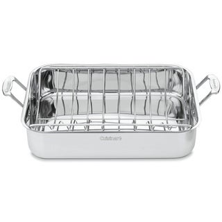 Cuisinart Chef's Classic Stainless 16-inch Rectangular Roaster with Rack|https://ak1.ostkcdn.com/images/products/7740859/P15140422.jpg?_ostk_perf_=percv&impolicy=medium