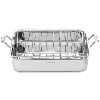 Cuisinart Chef's Classic Stainless 16-inch Rectangular Roaster with Rack|https://ak1.ostkcdn.com/images/products/7740859/P15140422.jpg?impolicy=medium