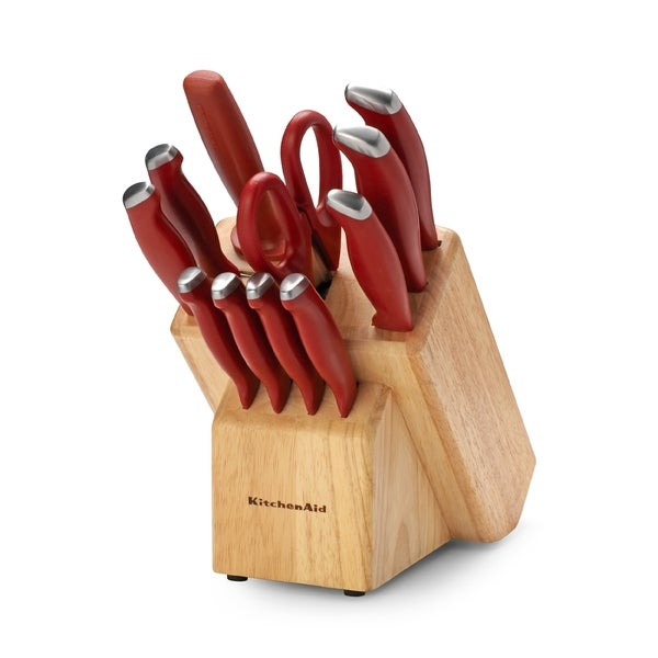 Shop KitchenAid 12-Piece Delrin Red Cutlery Set