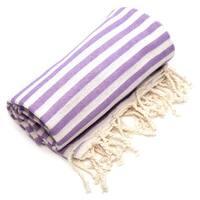 Authentic Pestemal Fouta Lilac Purple Turkish Cotton Bath/ Beach Towel