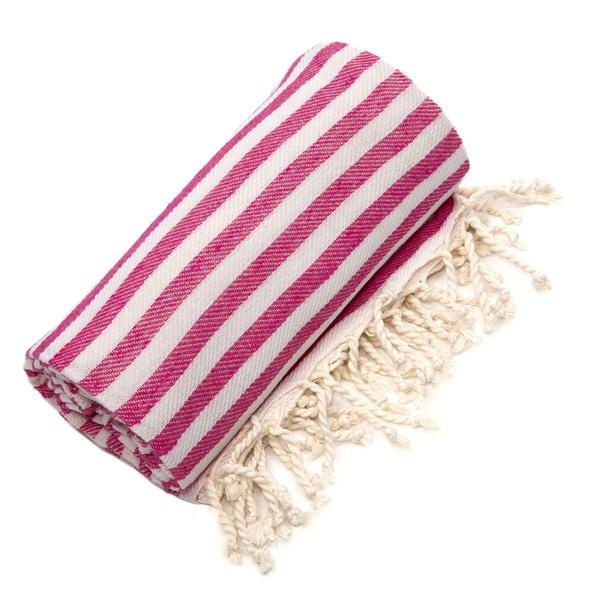 Authentic Pestamal Fouta Pink Turkish Cotton Bath/ Beach Towel