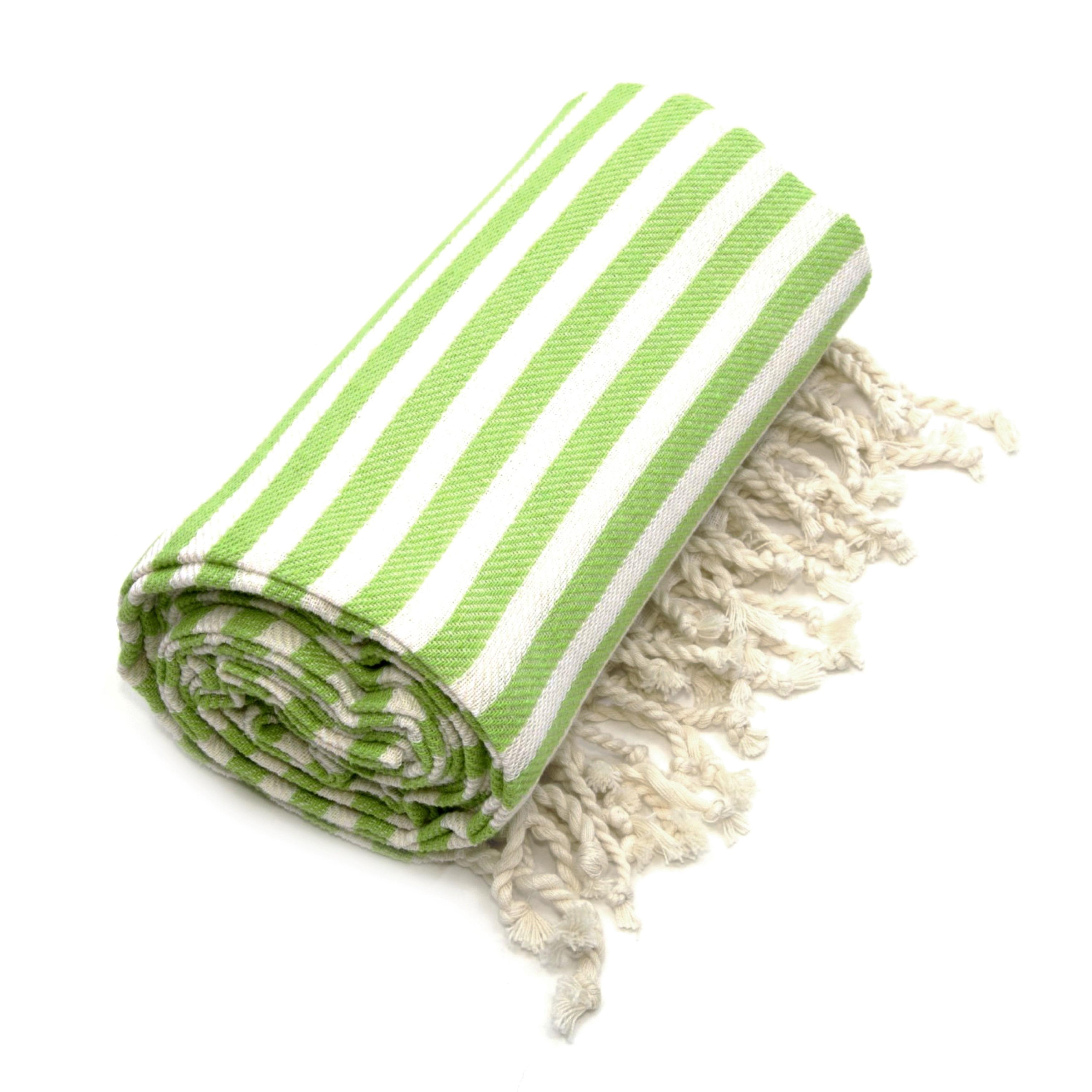 Authentic Pestemal Fouta Pistachio Green Turkish Cotton B...