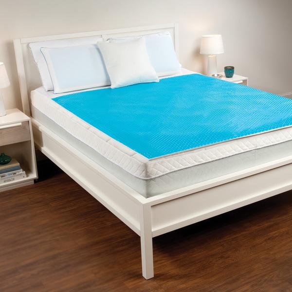 Comfort Memories Blue Bubble Queen-size Gel Mattress Pad