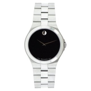 Link to Movado Men's Black Dial Stainless Steel Watch Similar Items in Men's Watches