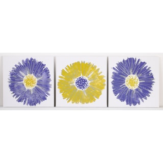Cotton Tale Periwinkle 3-piece Wall Art Set