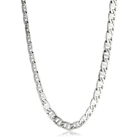 726069e18093a Buy 22 Inch, Stainless Steel Men's Necklaces Online at Overstock ...