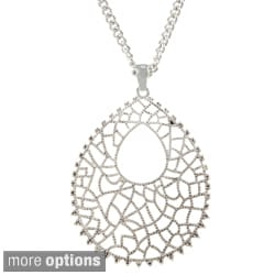 Alexa Starr Filigree Teardrop Necklace
