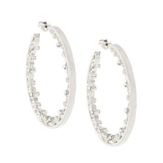 Alexa Starr Rhinestone Hoop Earrings